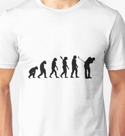 Human evolution of golfer man Unisex T-Shirt