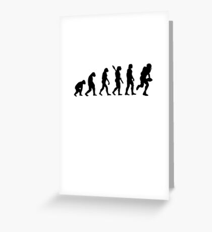 Human evolution of rugby player Greeting Card