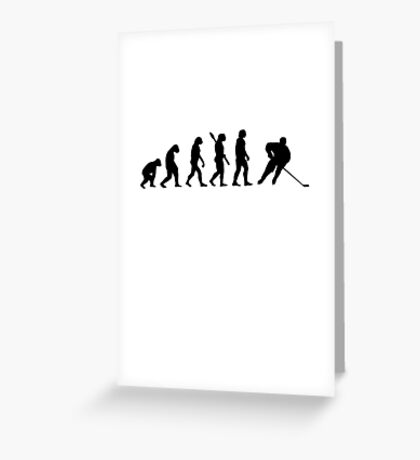 Human evolution of ice hockey man Greeting Card