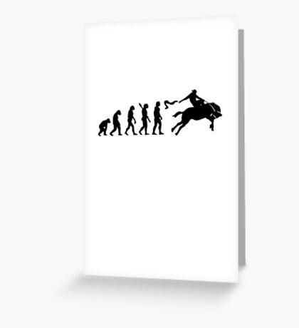 Human evolution of horse rider Greeting Card