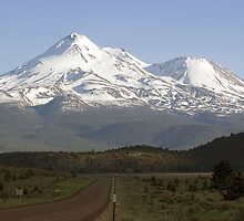 Mt. Shasta from Highway 97 by Dave Stephens