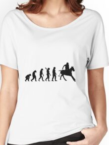Human evolution of horse rider Women's Relaxed Fit T-Shirt