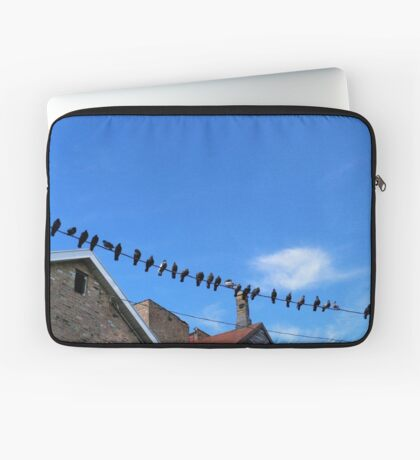 Birds on a Wire Photography Laptop Sleeve