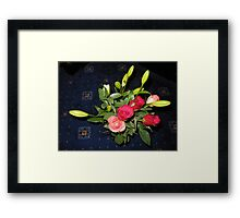 Bouquet of Roses and Lilies Framed Print
