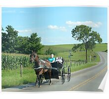 Amish Baby Buggy Ride Poster