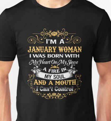 January Woman Shirt-Birthday Gifts-January T Shirt For Women Unisex T-Shirt