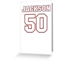 NFL Player Rob Jackson fifty 50 Greeting Card
