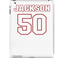 NFL Player Rob Jackson fifty 50 iPad Case/Skin