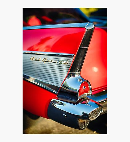 Chevy Bel Air Tail Fin  Photographic Print