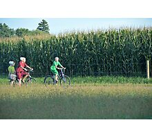 Amish Bikes Photographic Print