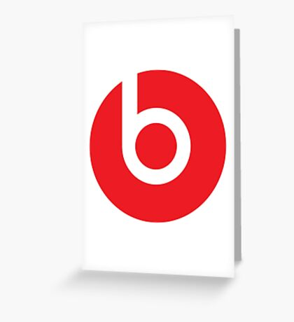 Beats by Dre Greeting Card