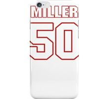 NFL Player Gabe Miller fifty 50 iPhone Case/Skin