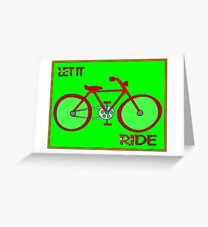 BICYCLE: Let It Ride Abstract Print Greeting Card