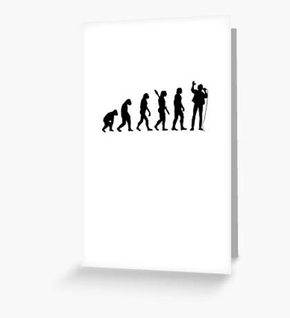 Human evolution of singer Greeting Card