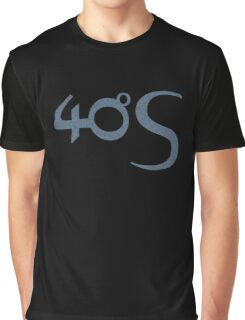 Fourty Degrees South logotype  Graphic T-Shirt