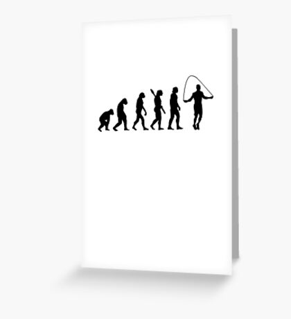 Human evolution of skipping Greeting Card