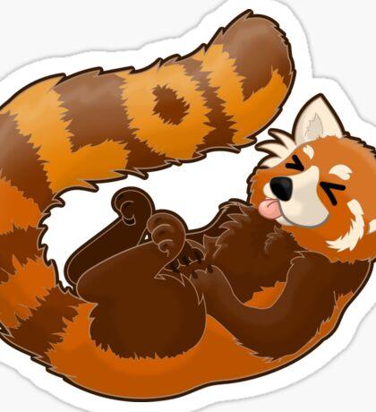 Laughing Red Panda - LOL Sticker