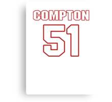 NFL Player Will Compton fiftyone 51 Canvas Print