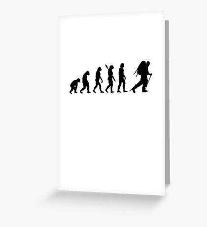 Human evolution of snow treking man Greeting Card