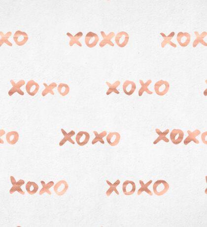 Valentines Day Rose Gold Words - XOXO Sticker