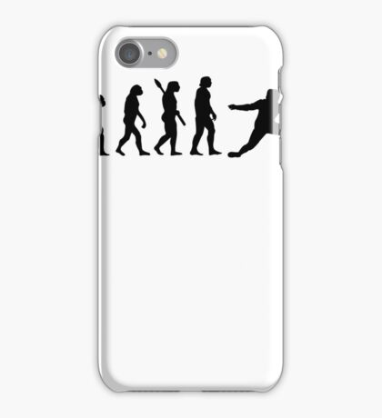 Human evolution of sword fighter iPhone Case/Skin