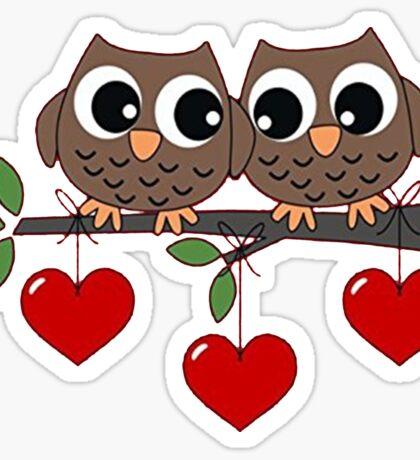 2 Owls My Valentine Day Sticker