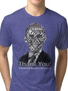 Thank you and Farewell President Barack Obama Shirts Tri-blend T-Shirt