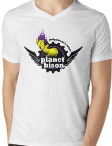 Planet Bison Fitness Mens V-Neck T-Shirt