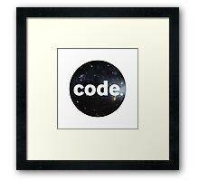 Code. Framed Print