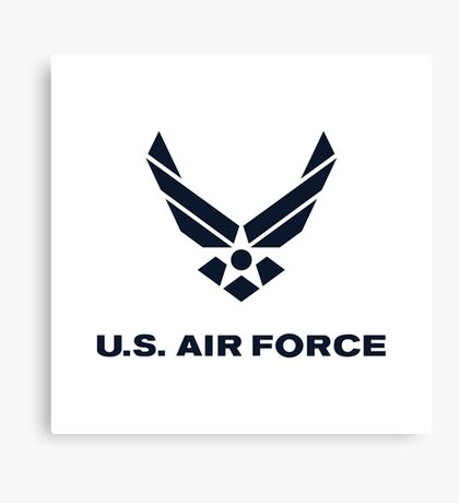 United States Air Force, US Air Force, Complete Logo Canvas Print