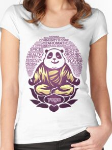 Live Love Yoga Panda Bear Women's Fitted Scoop T-Shirt