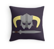 Iron helmet & imperial sword Throw Pillow