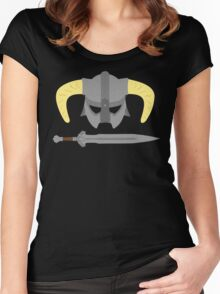 Iron helmet & imperial sword Women's Fitted Scoop T-Shirt