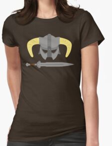 Iron helmet & imperial sword Womens Fitted T-Shirt