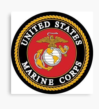United States Marine Corps, US Marines, USMC, Logo Canvas Print