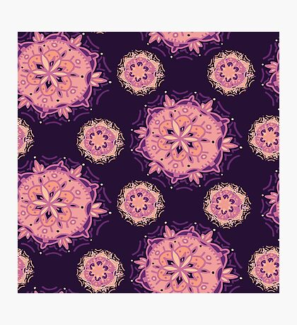 Purple Mandala Photographic Print