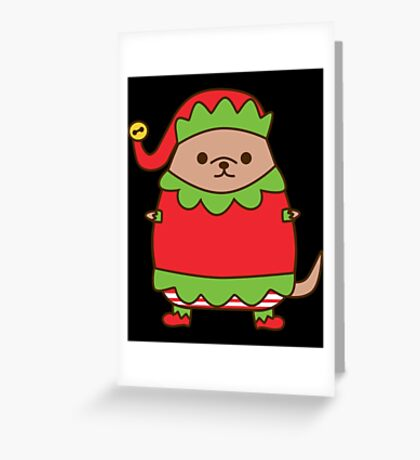 Christmas Elf Pupsheen Greeting Card
