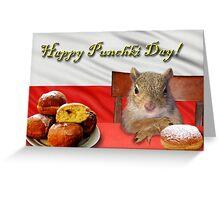 Punchki Day Squirrel Greeting Card