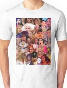Iconic Drag Queens Collage Unisex T-Shirt