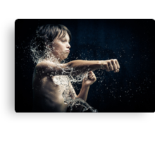 Experiment with water and studio lights Canvas Print