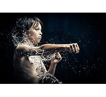 Experiment with water and studio lights Photographic Print