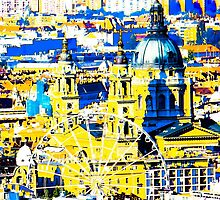 Budapest: Basilica and the Eye - in colour  by Veronika Gaudet