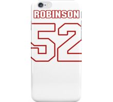 NFL Player Keenan Robinson fiftytwo 52 iPhone Case/Skin