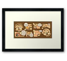 Cheap Iced Coffee Recipe Framed Print