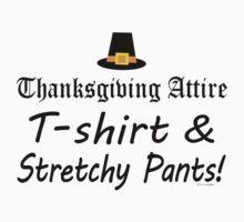 Funny Thanksgiving Dinner Attire  Kids Tee