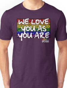 We Love You As You Are - PFLAG Capital Region Mardi Gras Shirt 2017 Unisex T-Shirt