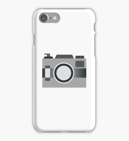 Retro Old-time Camera, Gray iPhone Case/Skin