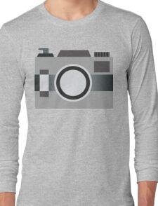 Retro Old-time Camera, Gray Long Sleeve T-Shirt
