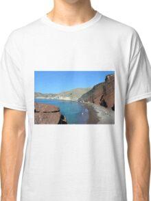 30 September 2016 The Red Beach on the Greek Island of Santorini Classic T-Shirt