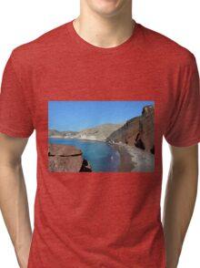 30 September 2016 The Red Beach on the Greek Island of Santorini Tri-blend T-Shirt